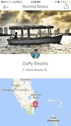 Sailo mobile app screenshot - Boat Owner Chat