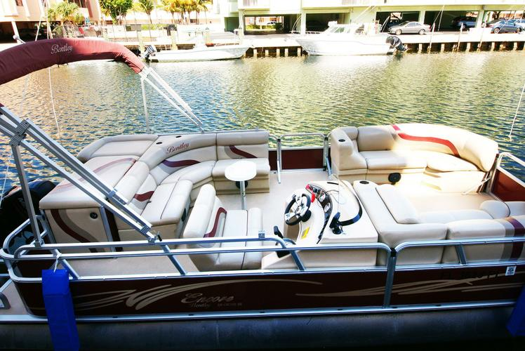 24 Ft Bentley Pontoon Party Boat for rent in Miami - best price!