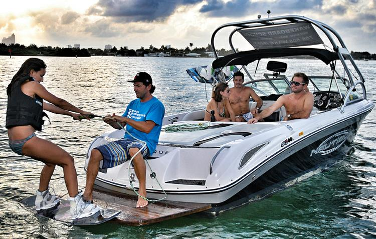 Boating is fun with a Ski and wakeboard in Miami Beach