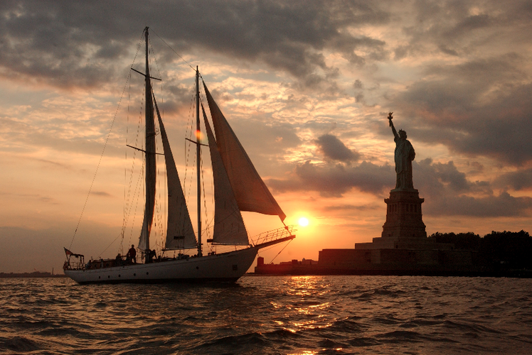 Enjoy New York City views on our spacious classic sailboat