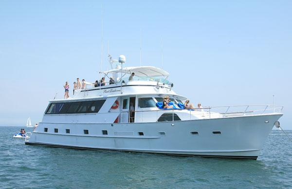 Up to 42 persons can enjoy a ride on this Mega yacht boat