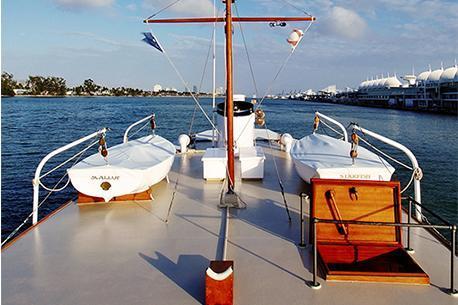 Houseboat boat rental in miami beach Marina, FL