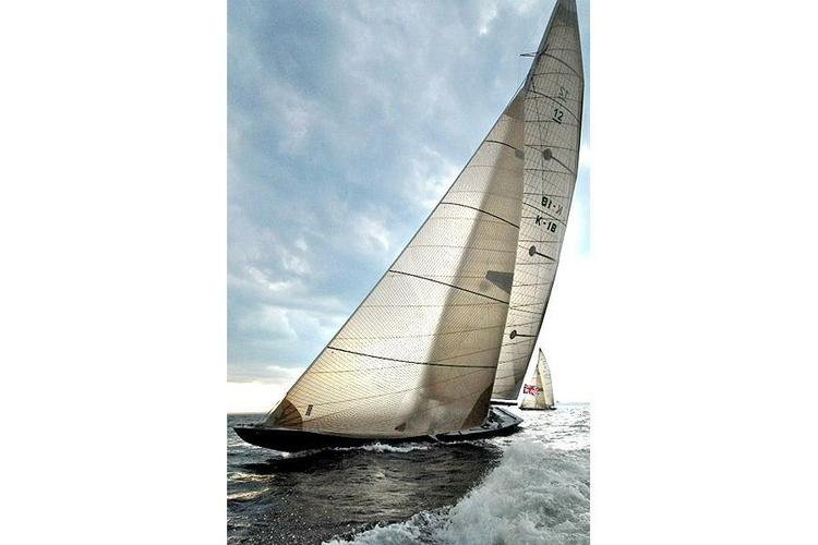 Match race your friends aboard a Classic America's Cup 12M