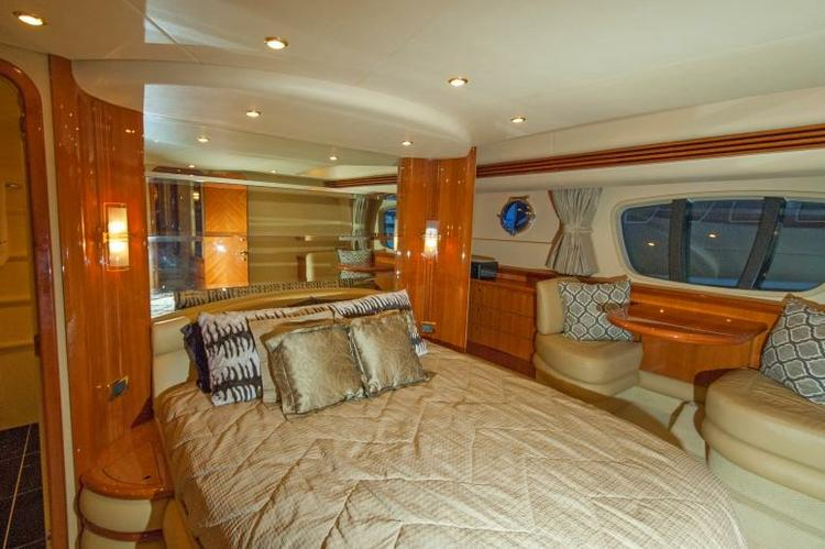 Discover Miami Beach surroundings on this 68 Flybridge Azimut boat