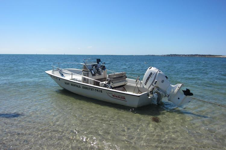 Enjoy this 17' Boston Whaler Montauk from Hyannis Marina!