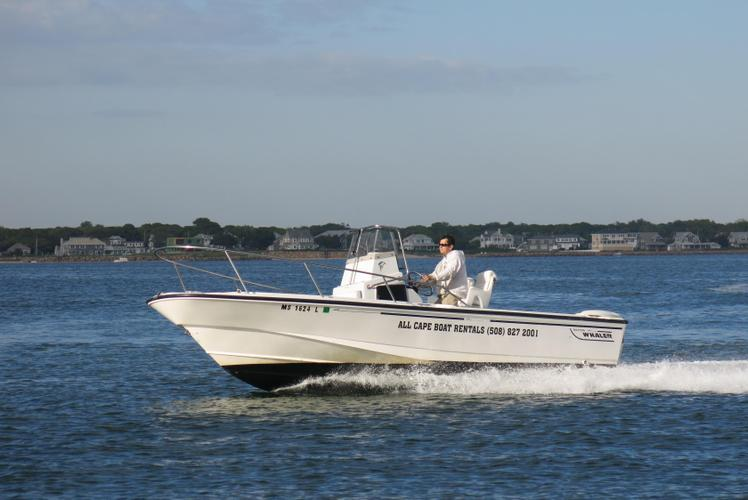 Enjoy this 21' Boston Whaler Outrage out of Hyannis Marina!