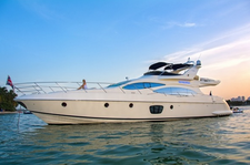This 68' Azimut  is one of the most luxurious boats in our fleet