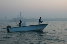 This one of a kind fishing boat is perfect for your next outing!