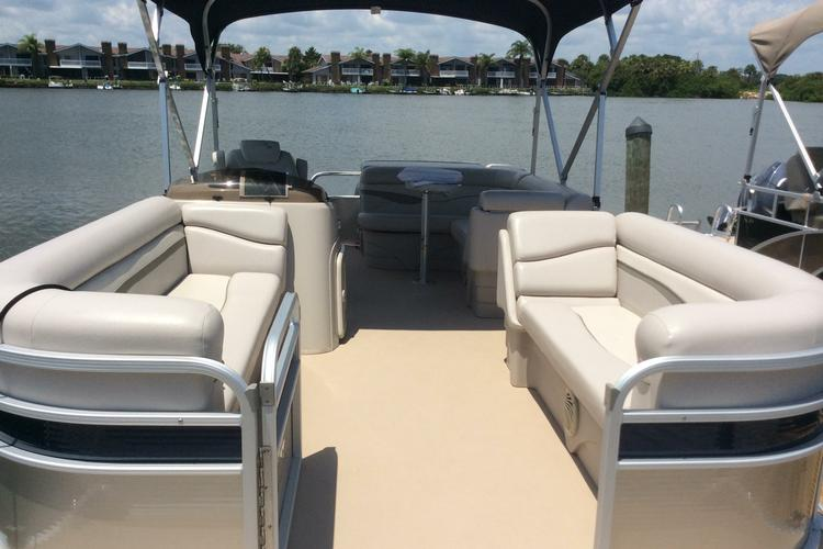 Enjoy a day out on this beautiful pontoon