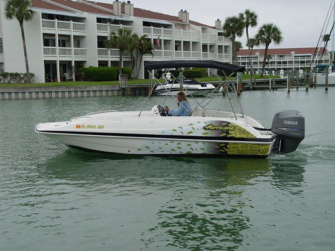 Boating is fun with a Deck boat in Madeira Beach