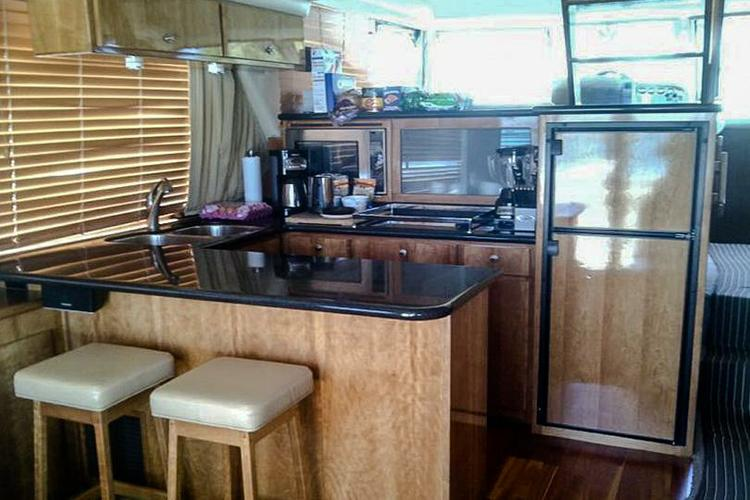 Discover Bcs surroundings on this 5100 Pilothouse Navigator boat
