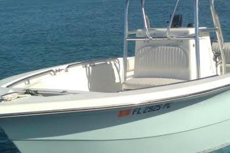 Center console boat rental in Whale Harbor Marina, FL