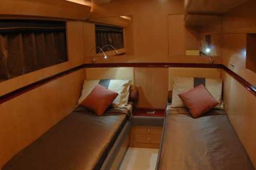 Discover Miami Beach surroundings on this 62 Power Cat boat