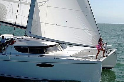 A beautiful catamaran in St. Pete!
