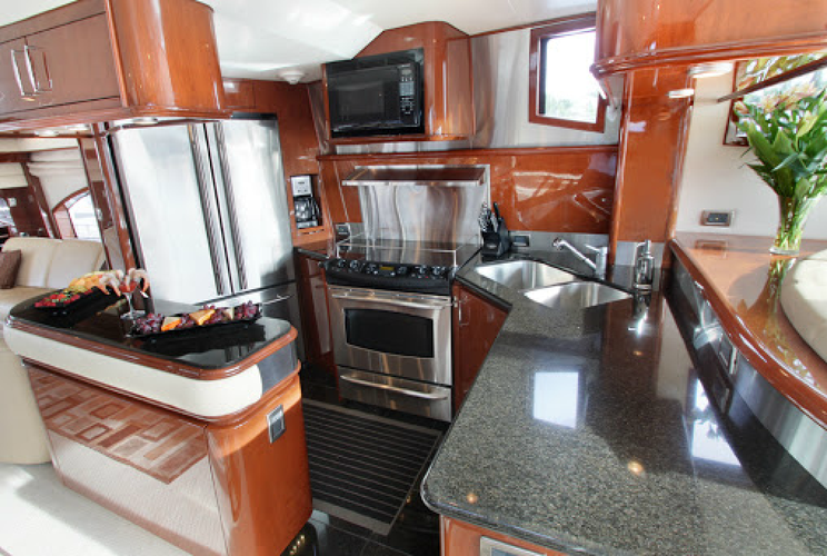 This 69.0' Marquis cand take up to 12 passengers around Fort Lauderdale