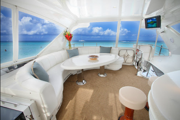 Up to 12 persons can enjoy a ride on this Convertible boat