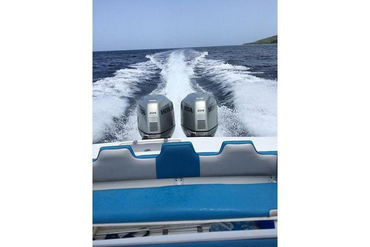 Discover St. Croix surroundings on this Wave Runner Motor boat