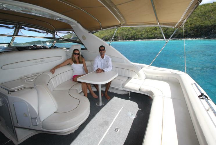 Express cruiser boat rental in Saga Haven Marina,