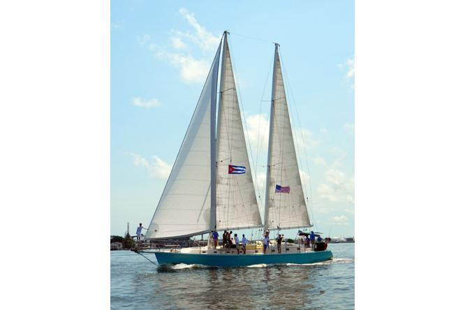 Up to 42 persons can enjoy a ride on this Schooner boat