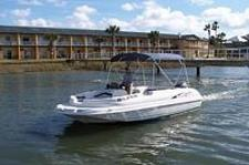 Explore the Intracoastal Waterway on this Deck Boat
