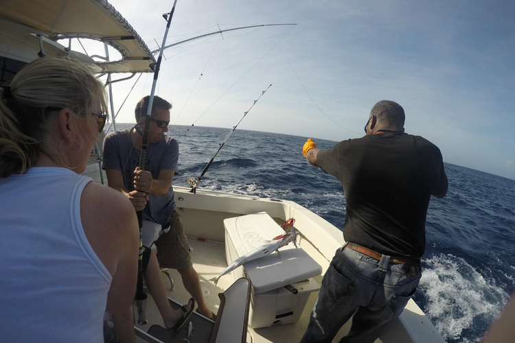Boating is fun with a Offshore sport fishing in Nassau