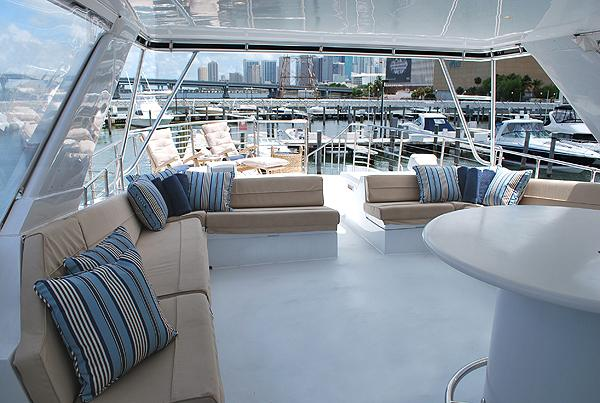 Mega yacht boat rental in Miamarina at Bayside, FL