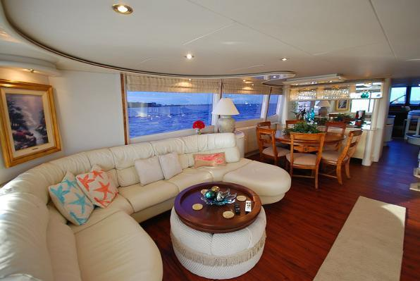 Discover Cape Coral surroundings on this 76 Motor Yacht Lazzara boat