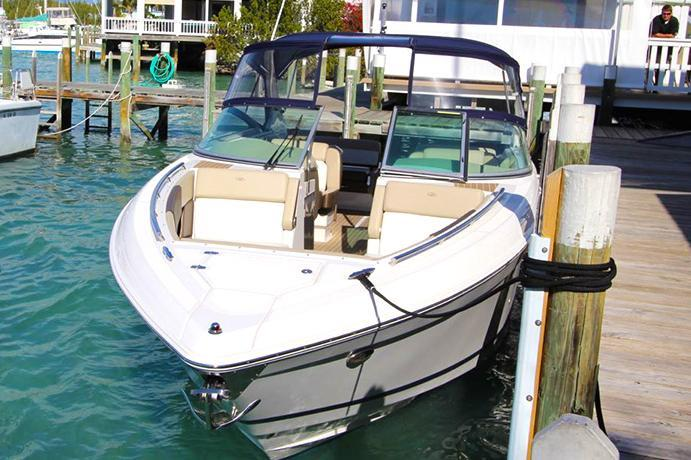 Bow rider boat rental in Harbour View Marina, Bahamas