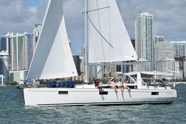 Sail Away, let the breeze ease the day and relax off of Miami
