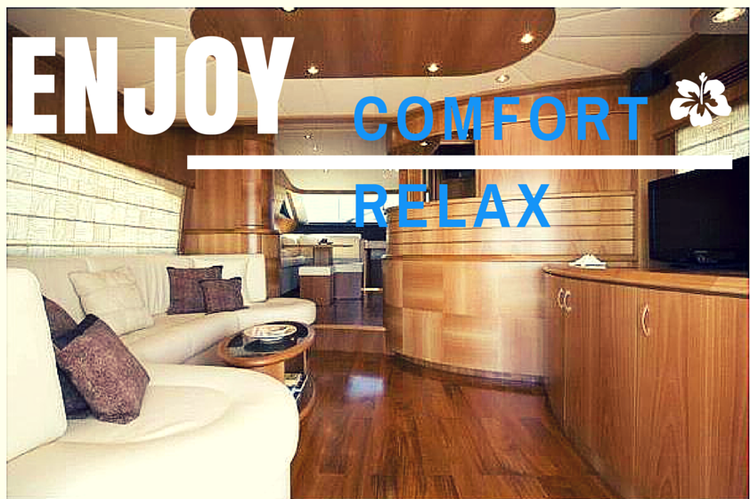 Let your hair down & enjoy our sublime YACHT Cayman Cyber 62 Fly