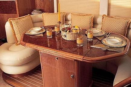 Discover Miami Beach surroundings on this Majesty 66 Gult Craft boat
