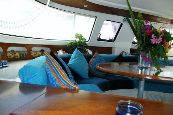 This 48.0' Fountaine  Pajot cand take up to 14 passengers around St. John's