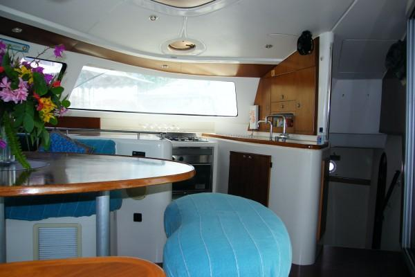 Discover St. John's surroundings on this Belize 48 Platinum Edition  Fountaine  Pajot boat