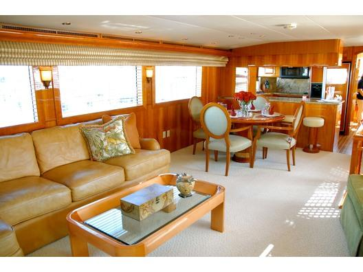 Discover Palm Beach Shore surroundings on this Avanti Hatteras boat