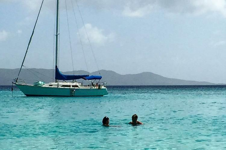 Discover Charlotte Amalie surroundings on this 37 C&C boat