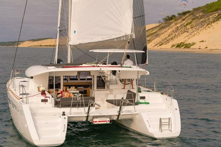Catamaran boat rental in Marina de Vilamoura, Portugal