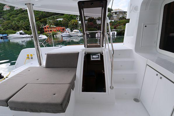 Up to 11 persons can enjoy a ride on this Lagoon boat