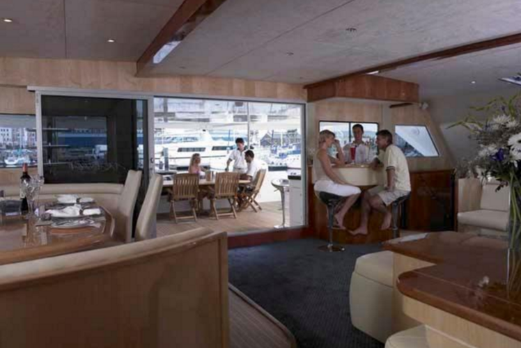 Discover Road Town surroundings on this 76 Matrix boat