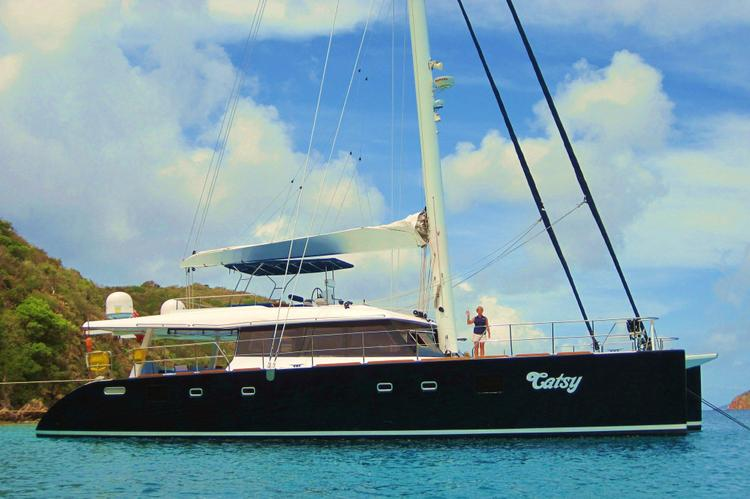 This 62.0' Sunreef cand take up to 8 passengers around Road Town