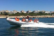 Cruise this Joker Boat with a crew or on your own!