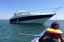 Relax with your friends or family on this Sunseeker