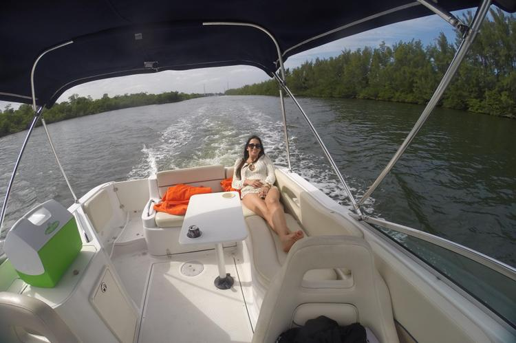 Discover Dania surroundings on this 262 Sport Deck Chris Craft boat
