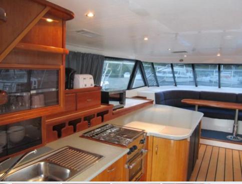 This 52.0' Power Catamaran cand take up to 9 passengers around Tortola