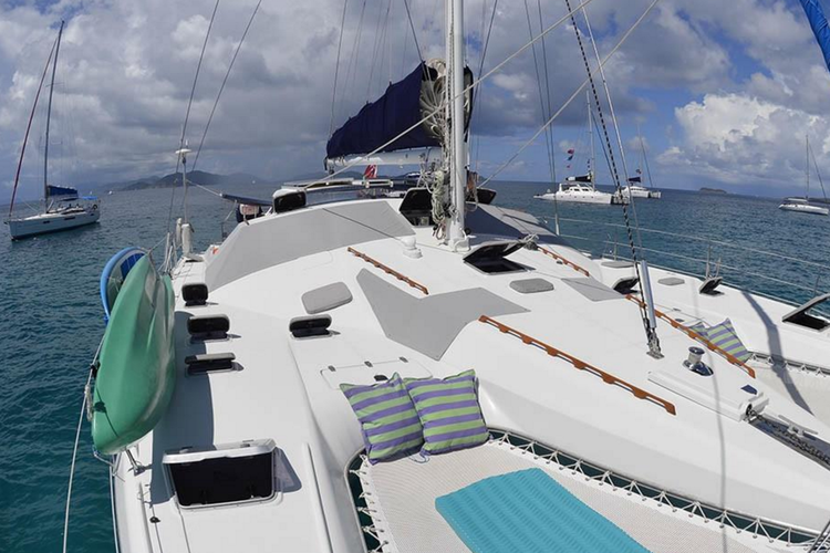 This 51.0' Jeantot Marine cand take up to 6 passengers around Tortola