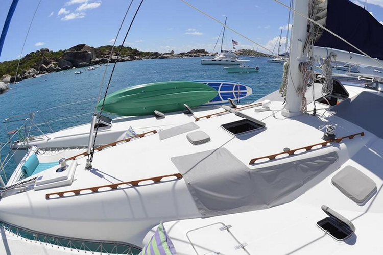 Discover Tortola surroundings on this 51 Jeantot Marine boat