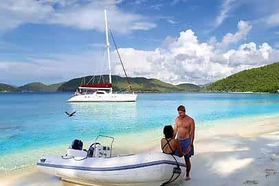 Lagoon boat for rent in Tortola