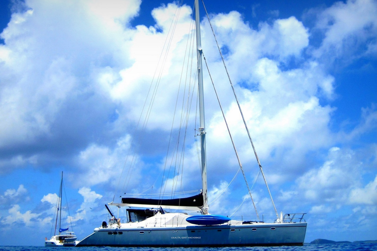 Catamaran boat rental in Soper's Hole Marina, British Virgin Islands