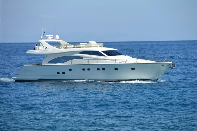 Live the high life in the Med aboard this Ferretti 68