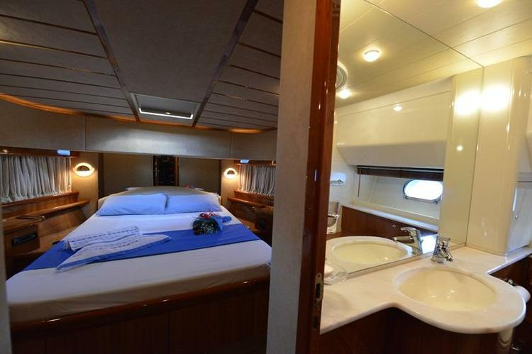 Discover Athens surroundings on this 68 Ferretti boat