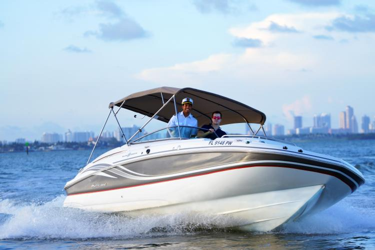 Classic boat rental in North Bay Village, FL